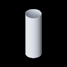 Труба водосточная с муфтой ПВХ, длина 4 м Элит (цвет белый)