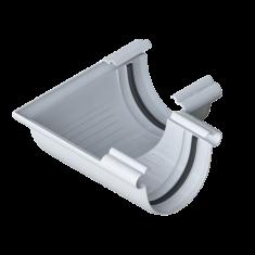 Угол желоба для водосточной системы Элит (цвет белый)